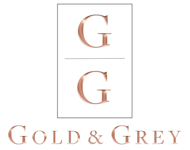 Gold & Grey UK Interior Design, Upholstery Furniture, Home Styling, Accessories, Made to Measure soft furnishings company logo